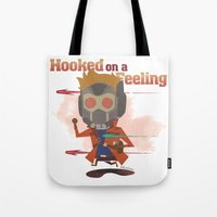 starlord Tote Bags featuring STARLORD by Doctor Keros