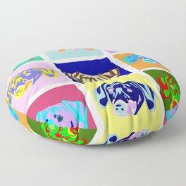 Dachshund Pop Art Floor Pillow