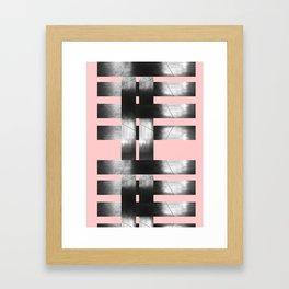 Brick Weaved Beams Framed Art Print
