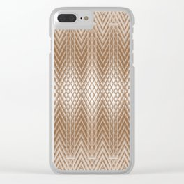 Cool Elegant Frosted Mocha Geometric Design Clear iPhone Case