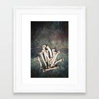 bones Framed Art Prints featuring Bones by Maria Heyens