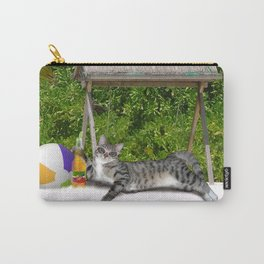 Vacation Time - Beach Bum Kitty Carry-All Pouch