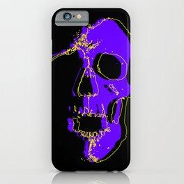 Skull - Purple iPhone Case