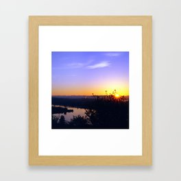 Seattle Dawn (square) Framed Art Print