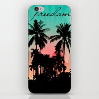palm trees iPhone & iPod Skins featuring Palm Trees by mark ashkenazi