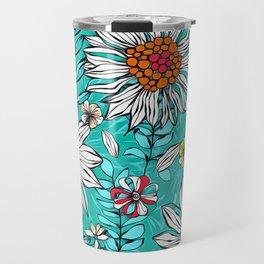 White daisies Travel Mug