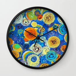Circling Impressions-Barbara Chichester Wall Clock