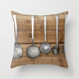 ladles in the kitchen Throw Pillow