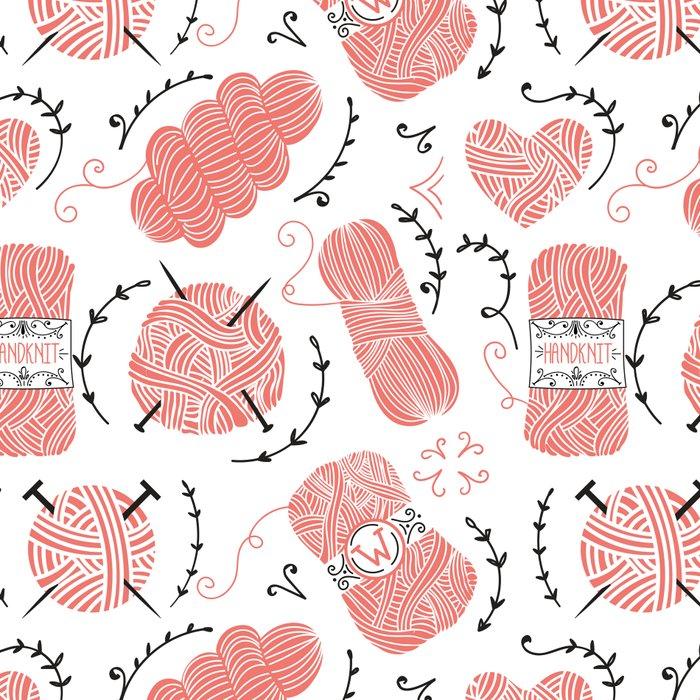 Knitting Yarn Pattern Pink Leggings