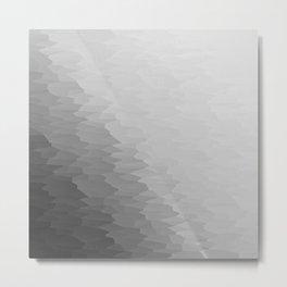 Gray Texture Ombre Metal Print