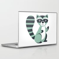 raccoon Laptop & iPad Skins featuring Raccoon by olillia