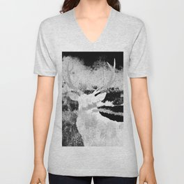 Stag in the shadows Unisex V-Neck