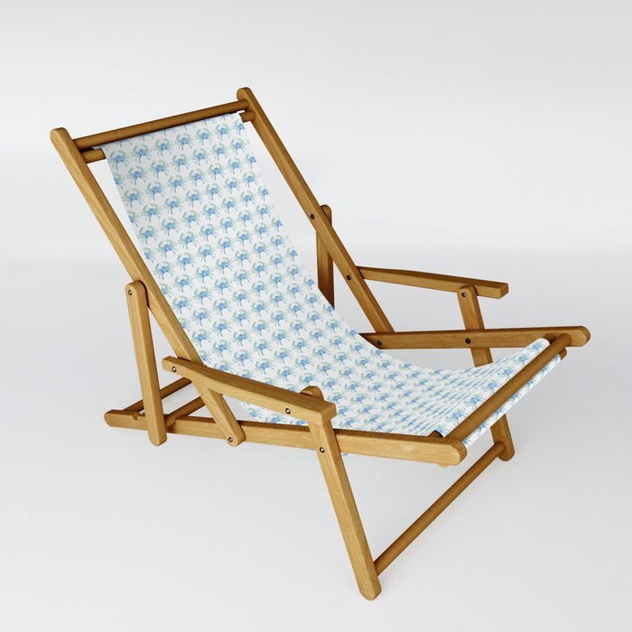 Blue Crab Sling Chair
