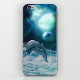 Freedom of dolphins iPhone Skin
