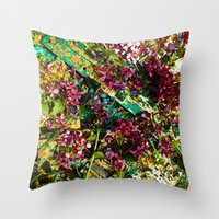 technology Throw Pillows featuring Dead Technology by mark jones