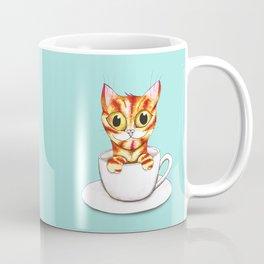 Striped coffee cat Coffee Mug