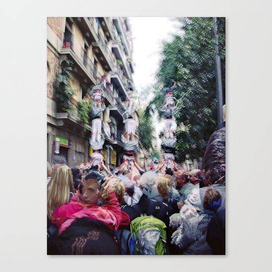 Sunday 11 November 2012: acceptable social climbing scenario Canvas Print