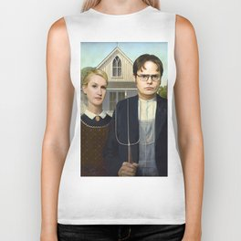 Dwight And Angela American Gothic Biker Tank