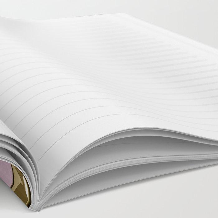 Rose quartz Elegance metal pattern Notebook