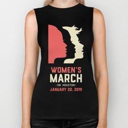Women's March On Houston January 20, 2019 Biker Tank