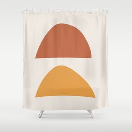 Ceremony Midcentury Abstract Minimalist Art Print Shower Curtain