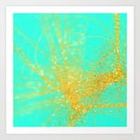 sparkle Art Prints featuring sparkle  by haroulita