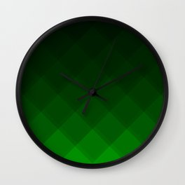 Avacado Tile Pattern Wall Clock