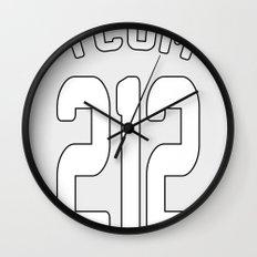 TCOM 212 AREA CODE JERSEY Wall Clock