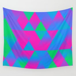 Polysexual Pride Gradient Triangle Pattern Wall Tapestry