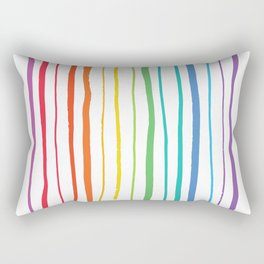 Zebra Rainbow Rectangular Pillow