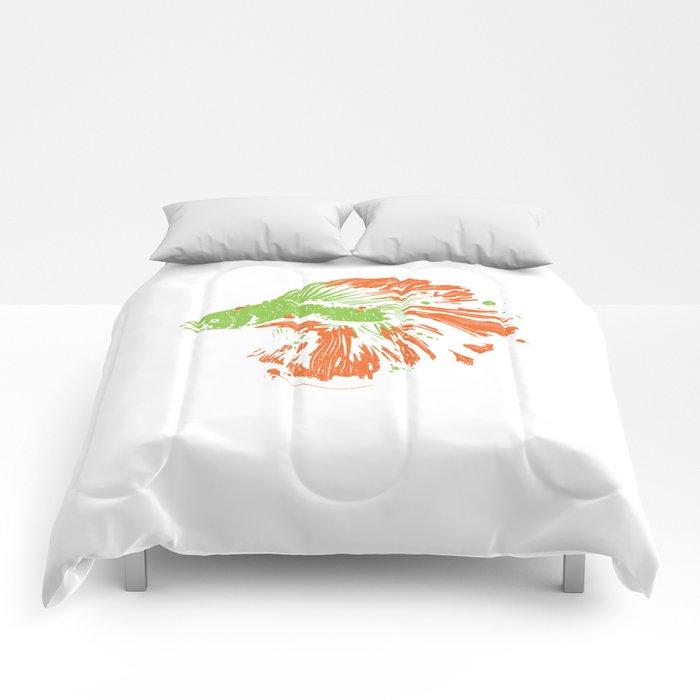 Betta Splendens Shirt Cute Bettas Siamese Fighting Fish Gift Comforters