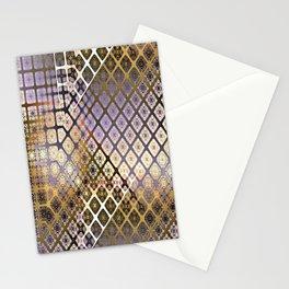 Place 2B Pattern (Lush Gold) Stationery Cards