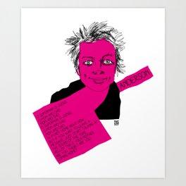 musicstrokes_anderson Art Print