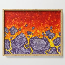 Oh, so hot! - firery lava Serving Tray