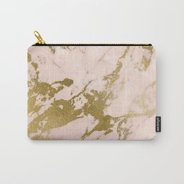 Champagne Blush Marble Carry-All Pouch