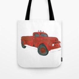 Antique Firetruck Tote Bag