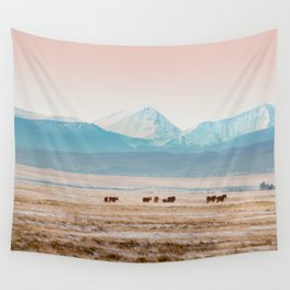 Big Hole Horses Wall Tapestry