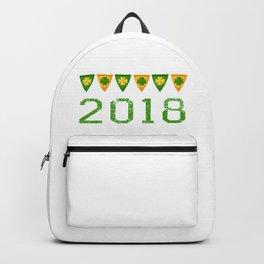 2018 Irish Flag Shamrocks St. Patrick's Day Ireland Backpack
