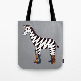 Zebra Socks Tote Bag