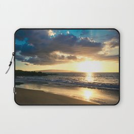 Poolenalena Beach Sunset Makena Maui Hawaii Laptop Sleeve