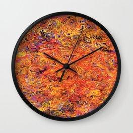 Purpura Flamma Wall Clock