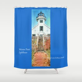 Mission Point Lighthouse Shower Curtain