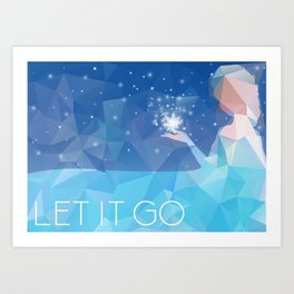 Frozen: Let it Go Art Print