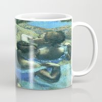 degas Mugs featuring Blue Dancers by PureVintageLove