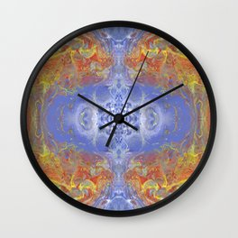Psycho - Fire surrounding Ice with great depth by annmariescreations Wall Clock