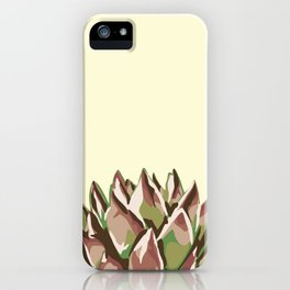Sunshine Rosette - Yellow Wax Agave Succulent iPhone Case