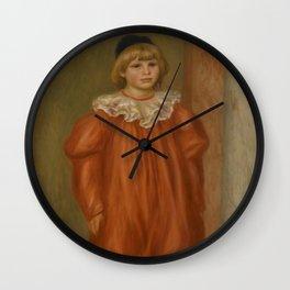"Auguste Renoir ""Claude Renoir in clown costume"" Wall Clock"