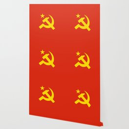 Communist Hammer & Sickle & Star Wallpaper