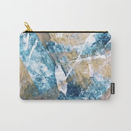 Anticipation [1]: a bright, colorful abstract piece in pink, rose gold, blue, and white Carry-All Pouch