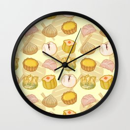 Dimsum everywhere! [yellow] Wall Clock